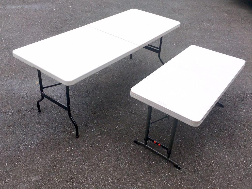 作業用白テーブル画像